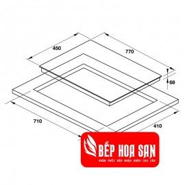 Bếp Điện Từ Hafele HC-M772D 536.61.695 - 77cm - Tây Ban Nha