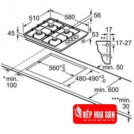 Bếp Gas Bosch HMH.PBH6B5B60 - 60cm Tây Ban Nha