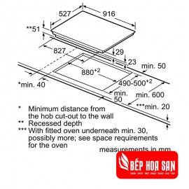 Bếp Từ Bosch HMH.PXX975DC1E - 90cm Tây Ban Nha