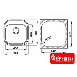 Chậu Rửa Chén Inox Hafele HS19-SSN1R50 567.23.083