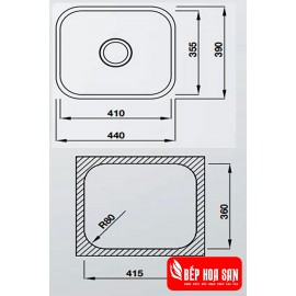 Chậu Rửa Chén Inox Hafele HS20-SSN1R50 567.24.000