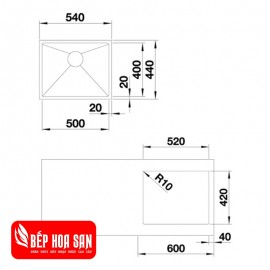 Chậu Rửa Chén Inox Hafele QUATRUS-R15-500IU 570.27.159