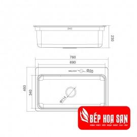 Chậu Rửa Chén Malloca MS-1022D