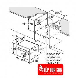 Lò Hấp Bosch HMH.CDG634BS1 - 38L Pháp