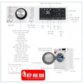 Máy Giặt LG FV1409S2W - 9Kg