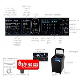 Máy Giặt Samsung WA16R6380BV/SV - 16Kg