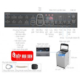 Máy Giặt Samsung WA90T5260BY/SV - 9Kg