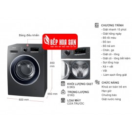 Máy Giặt Samsung WW85J42G0BX/SV - 8.5Kg