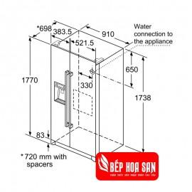 Tủ Lạnh Bosch HMH.KAI90VI20G - 522L Hàn Quốc