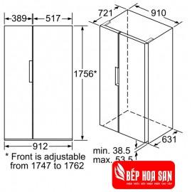 Tủ Lạnh Bosch HMH.KAN92VI350 - 661L