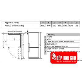 Tủ Lạnh Bosch HMH.KGN33NL20G - 279L Tây Ban Nha