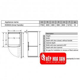 Tủ Lạnh Bosch HMH.KGN56LB400 - 559L Thổ Nhĩ Kỳ