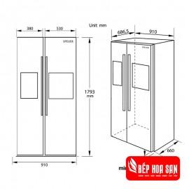 Tủ lạnh Spelier SP535RF