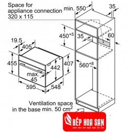 Lò Nướng Bosch HMH.CMG656BS6B - 45L 3600W Italy