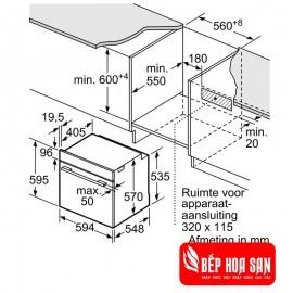 Lò Nướng Bosch HMH.HBA534BS0A - 71L 3400 W Ba Lan