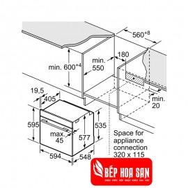 Lò Nướng Bosch HMH.HBG656RS1B - 71L 3600W Đức
