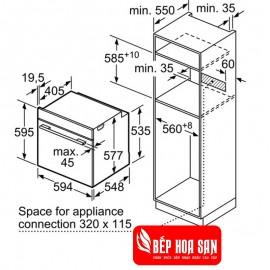 Lò Nướng Bosch HMH.HBG6764S6B - 71L 3600W Đức