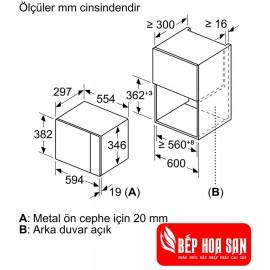 Lò Vi Sóng Bosch BFL524MB0 - 1270W  20L