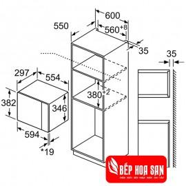 Lò Vi Sóng Bosch HMH.BFL523MS0H - 20 lít 1270W