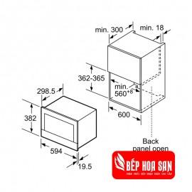 Lò Vi Sóng Bosch HMH.BFL634GS1B - 21L 1220W Anh