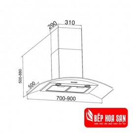 Máy khử mùi Binova BI-6688-ISO-07