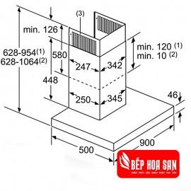 Máy Hút Mùi Bosch HMH.DWB98JQ50B - 90cm Đức
