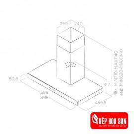 Máy Hút Mùi Elica Joy Whix/A/90 - 90cm Ba Lan