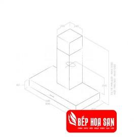Máy Hút Mùi Elica SPOT NG H6 IX/A/90 - 90cm Ba Lan