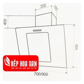 Máy Hút Mùi Gắn Tường Faster FS-3688S - 70cm