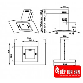 Máy Hút Mùi Hafele HH-IG90B 539.81.775 - 90cm Ba Lan