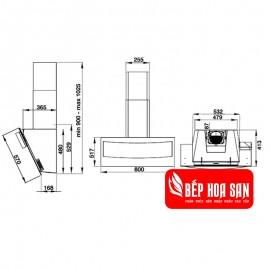 Máy Hút Mùi Hafele HH-WVG80B 538.84.218 - 80cm Ý