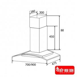 Máy Hút Mùi Kaff KF-GB702 - 70cm