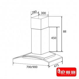 Máy Hút Mùi Kaff KF-GB705 - 70cm