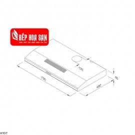 Máy Hút Mùi Malloca CLASSIC H107 - 70cm