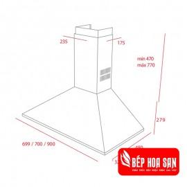 Máy Hút Mùi Teka DBB 90 - 30cm Tây Ban Nha