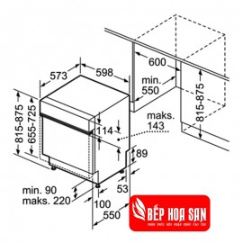 Máy Rửa Chén Bosch SMI46KS01E - 13 Bộ Ba Lan