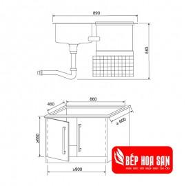 Máy Rửa Chén Malloca WQP6-890F3 - 1760W 6 Bộ