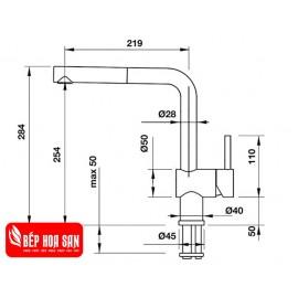 Vòi Bếp Hafele BLANCOLINUS-S 565.68.250 - Nóng Lạnh