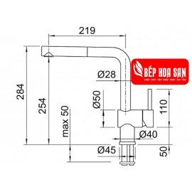Vòi Bếp Hafele BLANCOLINUS-S 565.68.950 - Nóng Lạnh