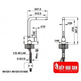 Vòi Bếp Hafele HT19-GH1P278 570.51.380 - Nóng Lạnh