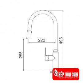 Vòi Rửa Chén Malloca K046-S