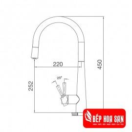 Vòi Rửa Chén Malloca K095-S