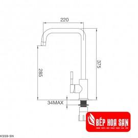 Vòi Rửa Chén Malloca K559-SN