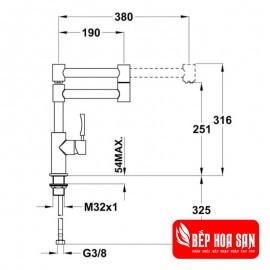 Vòi rửa TEKA INX 983