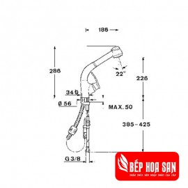 Vòi rửa TEKA MC 10 PLUS - Hỗ trợ COVID-19