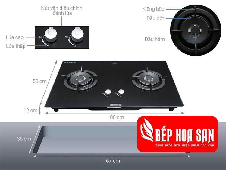 Hình ảnh kích thước bếp Electroluc EGT8028CK