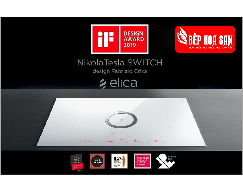 Bếp Từ Kết Hợp Máy Hút Mùi NikolaTesla Switch Made in Italy