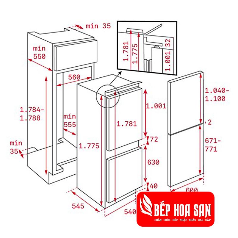 Hình ảnh tủ lạnh Teka CI3 350 NF