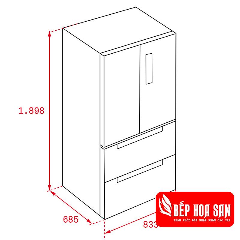 Hình ảnh tủ lạnh Teka RFD 77820 GBK