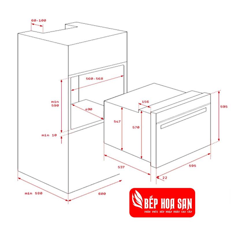 Lò Nướng Teka HLB 840 - 3220W 70L